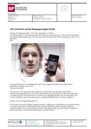 Pro Juventute» startet Kampagne gegen Suizid (Schweizer ...