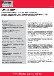 www.ferrari-electronic.de OfficeMaster 4 - netlogix IT-Services