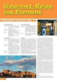 Gourmet-Reise ins Piemont Gourmet-Reise ins Piemont - Schwarb ...