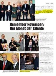 Remember November: Der Monat der Talente