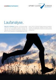 Info-Flyer «Laufanalyse» zum Download (PDF ... - SportClinic Zurich