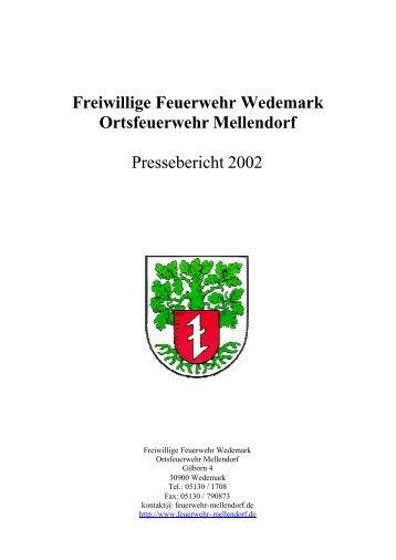 Freiwillige Feuerwehr Wedemark Ortsfeuerwehr Mellendorf ...