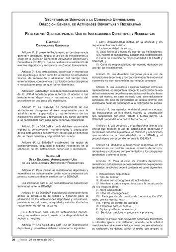 Reglamento General para el uso de Instalaciones ... - UNAM
