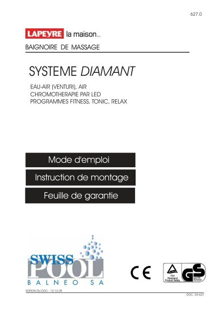 Systeme Diamant Swisspool Balneo Sa