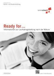 Broschüre Ready for - Kanton Schwyz
