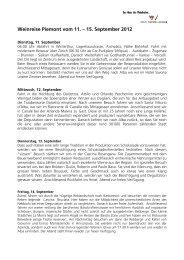 Weinreise Piemont vom 11. – 15. September 2012 - VOLG ...