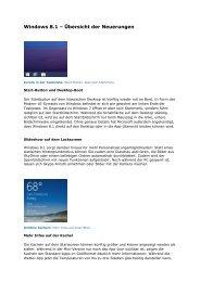Windows 8.1 – Übersicht der Neuerungen