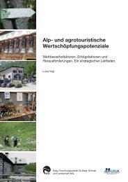 Alp- und agrotouristische Wertschöpfungspotenziale - WSL