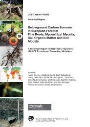 Belowground Carbon Turnover in European Forests: Fine ... - WSL
