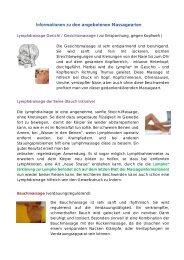 Informationen zu den angebotenen Massagearten - yera