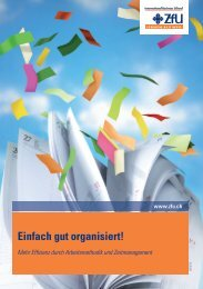 Einfach gut organisiert! - ZfU International Business School