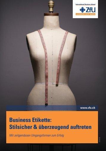 Stilsicher & überzeugend auftreten - ZFU International Business ...