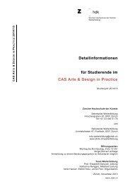 Detailtext - Zürcher Hochschule der Künste