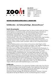 Brückenschlag zwischen Madagaskar und der Schweiz - Zoo Zürich