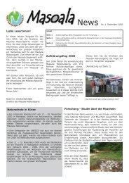 Liebe LeserInnen! Naturschutz in Kürze Aufklärungsflug ... - Zoo Zürich