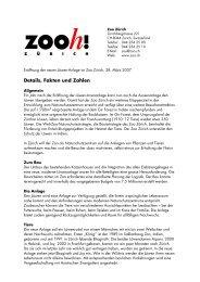 Details, Fakten und Zahlen - Zoo Zürich