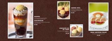 eiskaffee eisschokolade € 3,90 rondo marzipano praliné € 4,50 ...