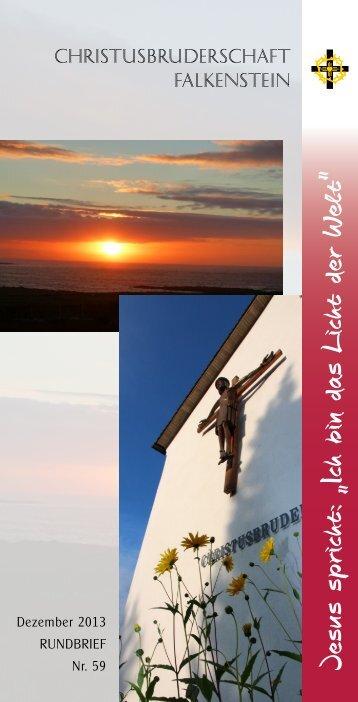 Aktueller Rundbrief Dez. 2013 - Christusbruderschaft Falkenstein