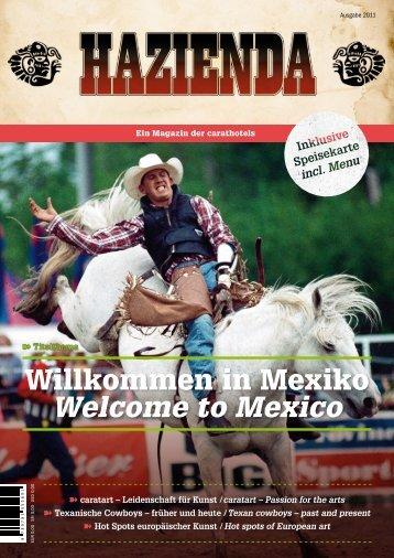 HAZIENDA Magazin - Ausgabe Eins (pdf-Format) - carathotel Basel