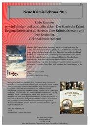 Neue Krimis Februar 2013 - Buchhandlung Gerbers