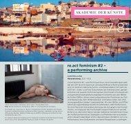 Programm | Pdf - Akademie der Künste