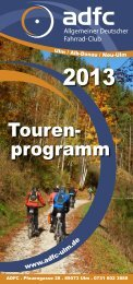 Tourenprogramm als PDF laden - ADFC - Kreisverband Ulm/Alb ...