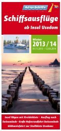 Schiffsausflüge ab Insel Usedom - Adler Schiffe