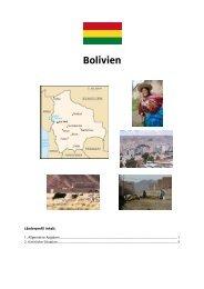 Länderprofil Bolivien - Adveniat