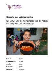 Rezepte aus Lateinamerika für Schul- und ... - Adveniat