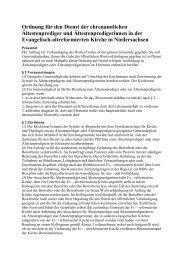 Ältestenprediger und Ältestenpredigerinnen - Die Evangelisch ...