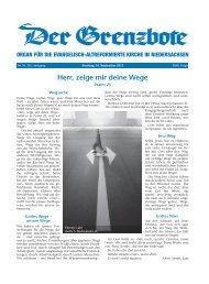 16. September 2012 - Die Evangelisch-altreformierte Kirche in ...