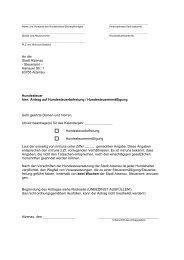 An die Stadt Alzenau - Steueramt – Hanauer Str. 1 63755 Alzenau ...
