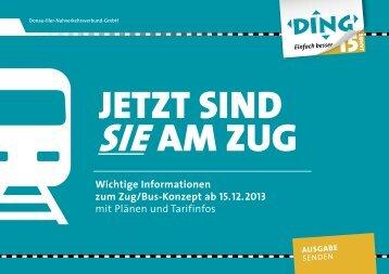 Wichtige Informationen zum Zug/Bus-Konzept ab 15. 12 ... - DING
