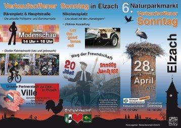 Programm herunterladen - Gewerbeverein Elzach