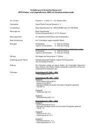 Einladung und Ausschreibung zum IPFR Kinder- und ... - IPZV