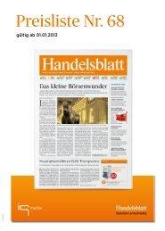Handelsblatt - Preisliste - iq media marketing