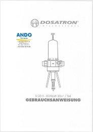 Gebrauchsanweisung - ANDO Technik GmbH