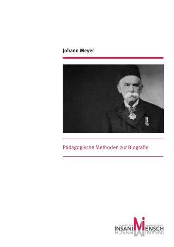 Johann Meyer Pädagogische Methoden zur Biografie - Anne Frank ...