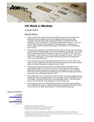 UK Week in Markets 3 June 2013 - Aon