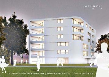 Wohnen an der neckarterrasse | helfensteiner ... - Architektur 109