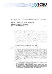 faire löhne, sichere renten, starker sozialstaat - CDU/CSU-Fraktion ...