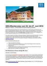 GEA-Wanderreise vom 24. bis 27. Juni 2010 - Reutlinger General ...