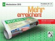 Mediadaten 2013 - Wochen-Kurier