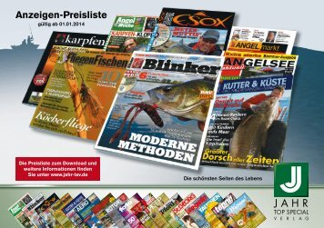 Anzeigenpreisliste ANGELN 2014 - Jahr Top Special Verlag