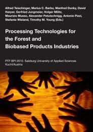 Processing Technologies for the Forest and Biobased ... - IUFRO