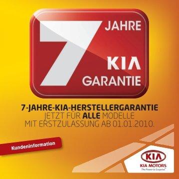 7 Jahre Kia Garantie - Kia Motors Europe