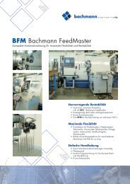 BFM Bachmann FeedMaster - Bachmann Engineering AG
