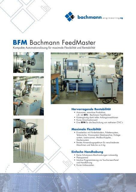 BFM Bachmann FeedMaster - Bachmann Engineering AG