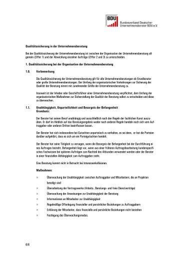 6/6 Qualitätssicherung in der Unternehmensberatung Bei der ...