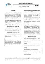 Installation von aufschweissbaren DMS und Temperatursensoren